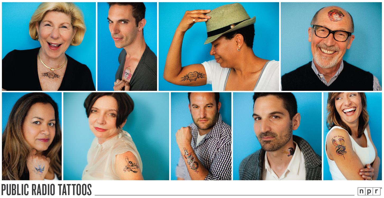 Npr Voices Show Their Public Radio Tattoos Inside St